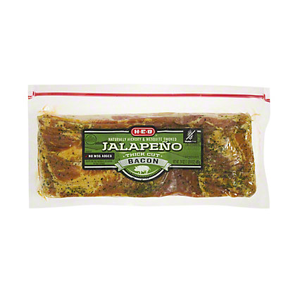 H-E-B Premium Thick Cut Jalapeno Bacon, 24 oz